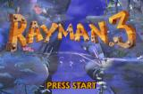 Rayman 3 Game Boy Advance Title screen.
