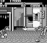 Street Fighter II Game Boy Chun-Li's Kikoken is not a threat now.