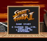 Street Fighter II Game Boy Title screen (in Super Game Boy).