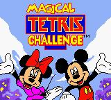 Magical Tetris Challenge Game Boy Color Title screen.