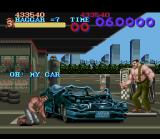 Final Fight SNES Bonus stage: break this car quickly and earn many points. Good for you, but for others...