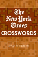 The New York Times Crosswords Nintendo DS Title Screen