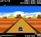 Top Gear Pocket Game Boy Color Driving in a desert.
