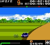 Top Gear Pocket Game Boy Color The car turned? This happens if you driving out of the track with high speed. Look out!