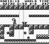 Super Mario Land Game Boy These enemies shoot their heads at Mario.