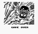 Wario Blast featuring Bomberman! Game Boy A funny Game Over screen.