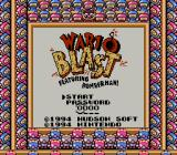 Wario Blast featuring Bomberman! Game Boy Title screen (in Super Game Boy).
