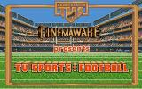 TV Sports: Football Amiga Title screen