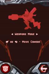 Transformers: Autobots Nintendo DS Controls - Weapons Mode