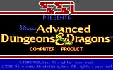 Pool of Radiance DOS Title screen #1