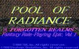 Pool of Radiance DOS Title screen #2
