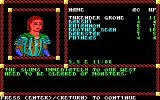 Pool of Radiance DOS Receiving the first mission from the clerk