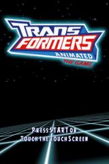 Transformers Animated: The Game Nintendo DS Title screen