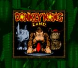Donkey Kong Land Game Boy Title screen (in Super Game Boy).