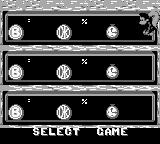 Donkey Kong Land III Game Boy Selecting one empty slot.