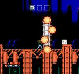 Shatterhand NES Smashing down an obstacle