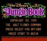 Disney's The Jungle Book NES Title Screen