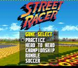 Street Racer SNES Main menu