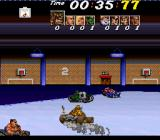 Street Racer SNES The soccer mode can also be played on an ice field