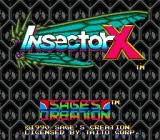 Insector X Genesis Title Screen