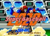 Super Baseball 2020 Neo Geo Title