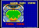 Super Baseball 2020 Neo Geo Screen showing the different zones in the playfield