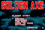 SEGA Smashpack Game Boy Advance Golden Axe: Main Menu