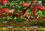 Top Hunter: Roddy & Cathy Neo Geo An enemy floats in the air like a leaf