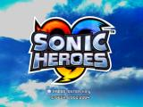 Sonic Heroes Windows Title Screen