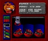 Rock n' Roll Racing SNES You'll need buy upgrades to improve your car...