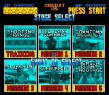 Lethal Enforcers SNES Select your mission or improve your accuracy in training mode.