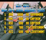 Lethal Enforcers SNES Ranking screen. Be the best cop of the moment!