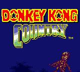 Donkey Kong Country Game Boy Color One of many title screen drawings. The game shows it in 2 parts: this is the first.