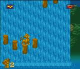 The Lion King SNES Jump on the wooden pieces of this waterfall if you want to survive!