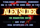 Alien Soldier Genesis Japan Title screen