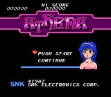 Athena NES Japan Title screen