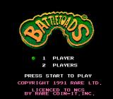 Battletoads NES Japan Title screen