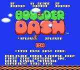 Boulder Dash NES Japan Title screen