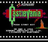 Castlevania NES Europe Title screen