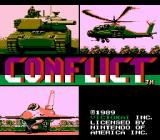 Conflict NES US Title screen