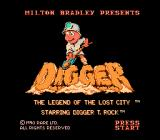 Digger T. Rock: Legend of the Lost City NES Title screen