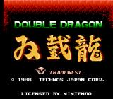Double Dragon NES Europe Title screen