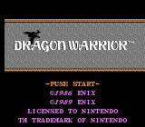 Dragon Warrior NES US Title screen