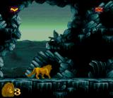 The Lion King SNES Entering a cave.