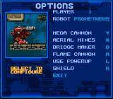 Metal Warriors SNES Options