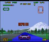 Top Gear 3000 SNES The blue track is responsible to fix all damage in your car. Remember: the more damage it receives, little speed it generates after the fuel meter is empty!