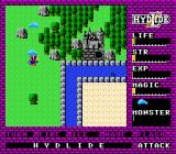 Hydlide NES An epic battle with a slime
