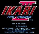 Ikari III: The Rescue NES Title screen