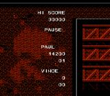 Ikari III: The Rescue NES The pause menu has no helpful information available during gameplay
