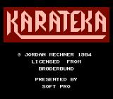 Karateka NES Title screen